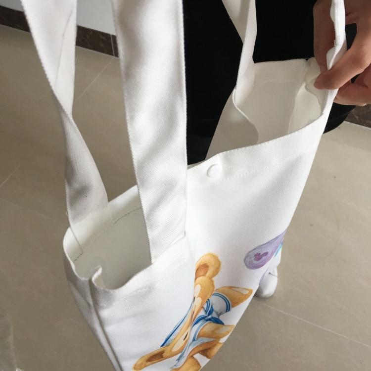Cartoon Japan Duffy Bear Stellalou Canvas Shopping Bag Cute Duffy Shoulder Bags Foldable Grocery Bags Eco Cartoon Tote Handbags