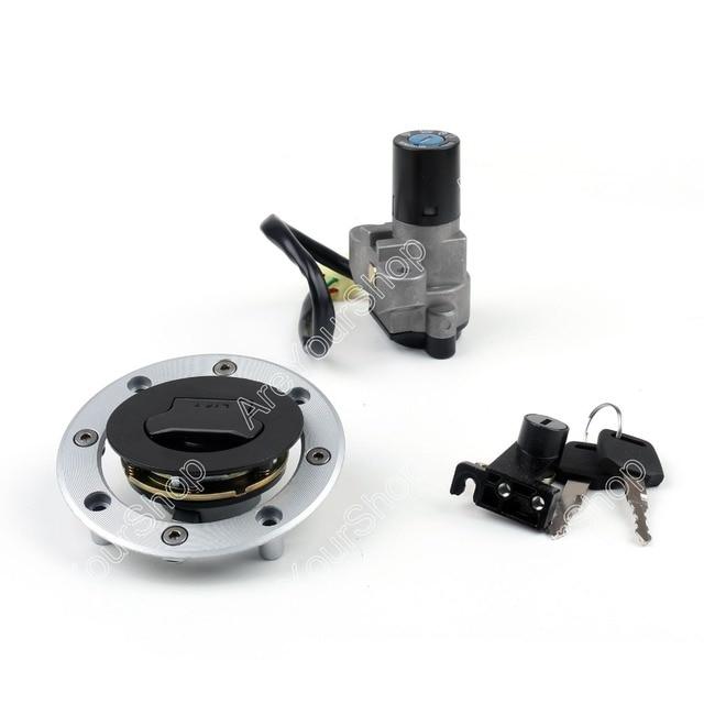 Motorcycle Lockset Universal Ignition Key Switch Lock+ Fuel Gas Cap + Seat Lock + Key For Suzuki GS500 GSF250 Bandit 250 77A VS