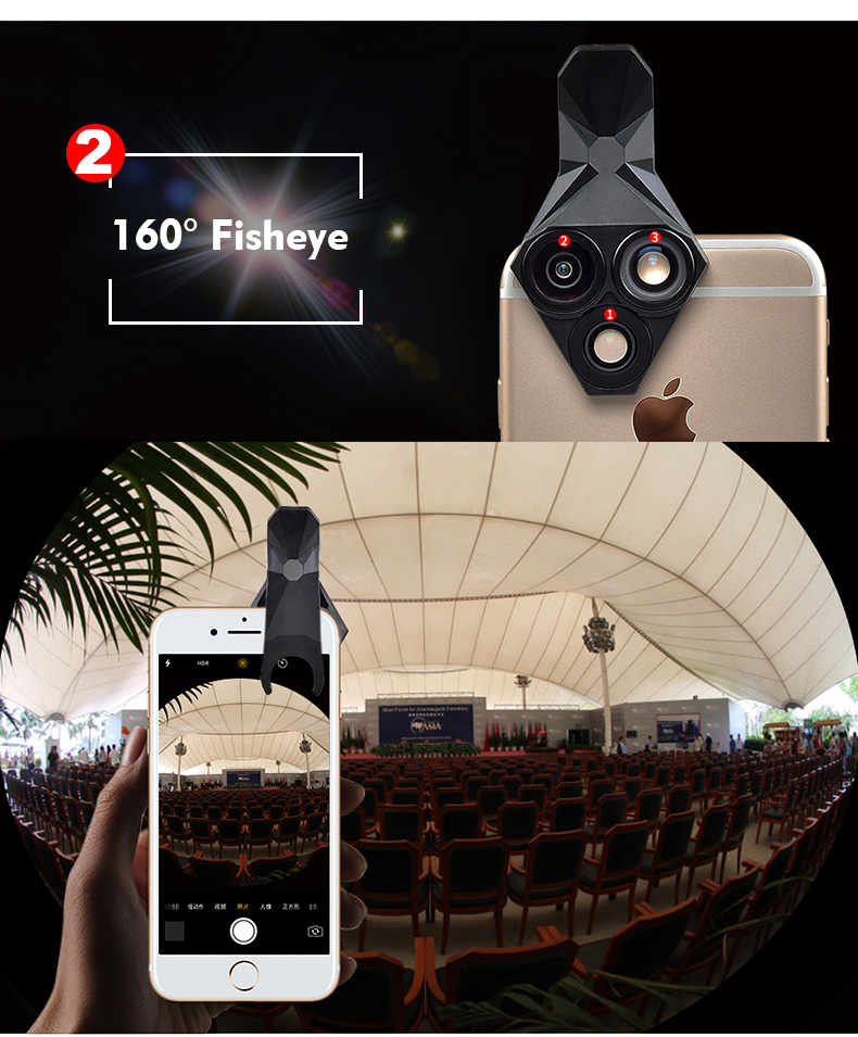 Ulanzi 3 in 1 Phone Camera Lens Kit Wide Angle Macro Fisheye Lens for iPhone Samsung HUAWEI VIVO Xiaomi Smart Mobile phones 8