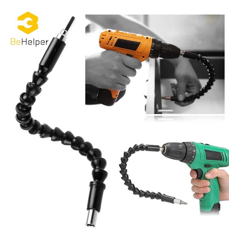 Behelper 295 mm Universal Flexible Shaft Extension Rod for Electric Drill Screwdriver Bit Holder Connect Link Power Tool screwdriver bit flexible shaft electric drill adapter screwdriver universal rod power tool drill bit extend 1pcs free shipping