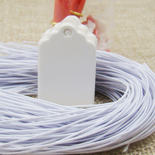 1000pcs white elastic string for garment tag paper gift tag attached