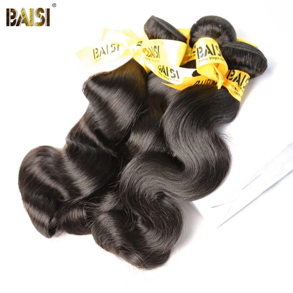 Cabello BAISI sin procesar malayo pelo virgen cuerpo onda cabello tejido 3 paquetes 100% cabello humano