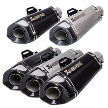 Laser Universal 51mm Akrapovic Motorcycle Exhaust System Muffler Pipe For R6 R25 Z800 Carbon Fiber Motorbike Silencer Escape motorcycle exhaust pipe muffler inlet 51mm carbon fiber exhaust pipe motorcycle escape for suzuki gw250 kawasaki z750 z800 r6