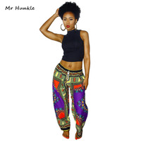 2016 New Fashion Design Man Pants Traditional African Clothing Print Dashiki Pants For Women And Men