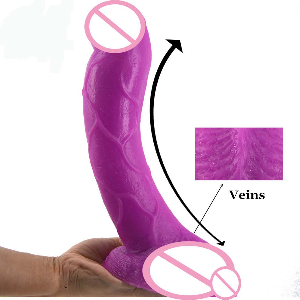 CHGD Big Curved Animal Dildo Realistic Penis big dick Purple Sex Toys Erotic Adult Products Couple Flirt masturbate anal dildo chgd 9 44 long thick animal dildo ribbed big penis large anal plug women lesbian masturbate erotic toy stimulate adult sex shop