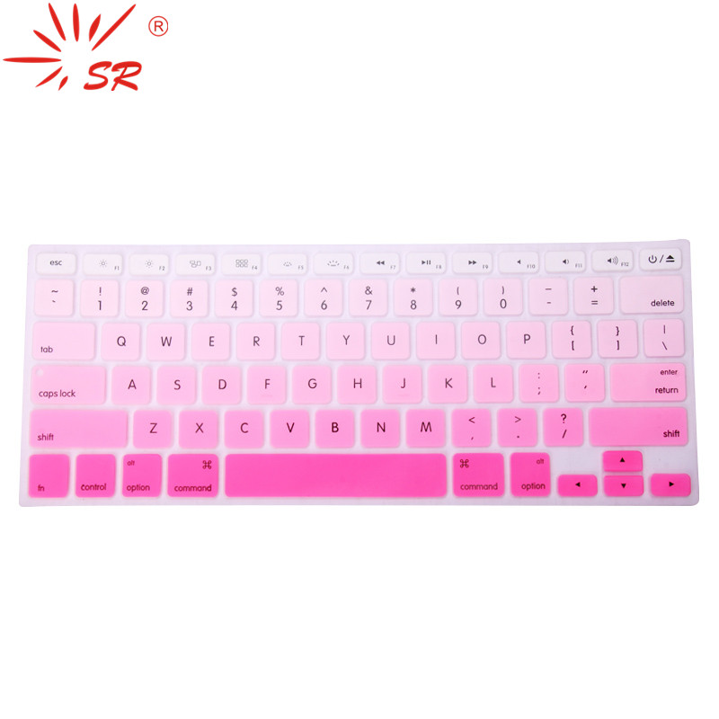 SR 11 Colors US English Language Letter Silicone Keyboard Cover Sticker For Macbook Air 13 Pro 13.3 15.4 17 Retina Protector