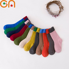 children socks Boy Girl cotton fashion Knee high Sports socks baby toddler Keep warm socks new year kids clothing cheap stuff CN
