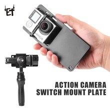 ET Anahtarı Plakası Adaptörü Eylem Kamera Aksesuarları için GoPro Kahraman 3/4/5/6 Xiaoyi SJCAM s7 Pürüzsüz 4 DJI Sabitleyici Gi...