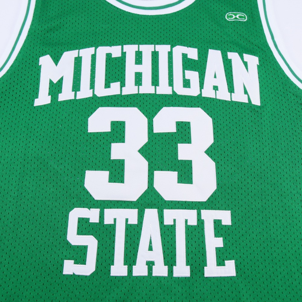 63759858 Magic Johnson College Jersey #33 Michigan State Spartans Basketball ...