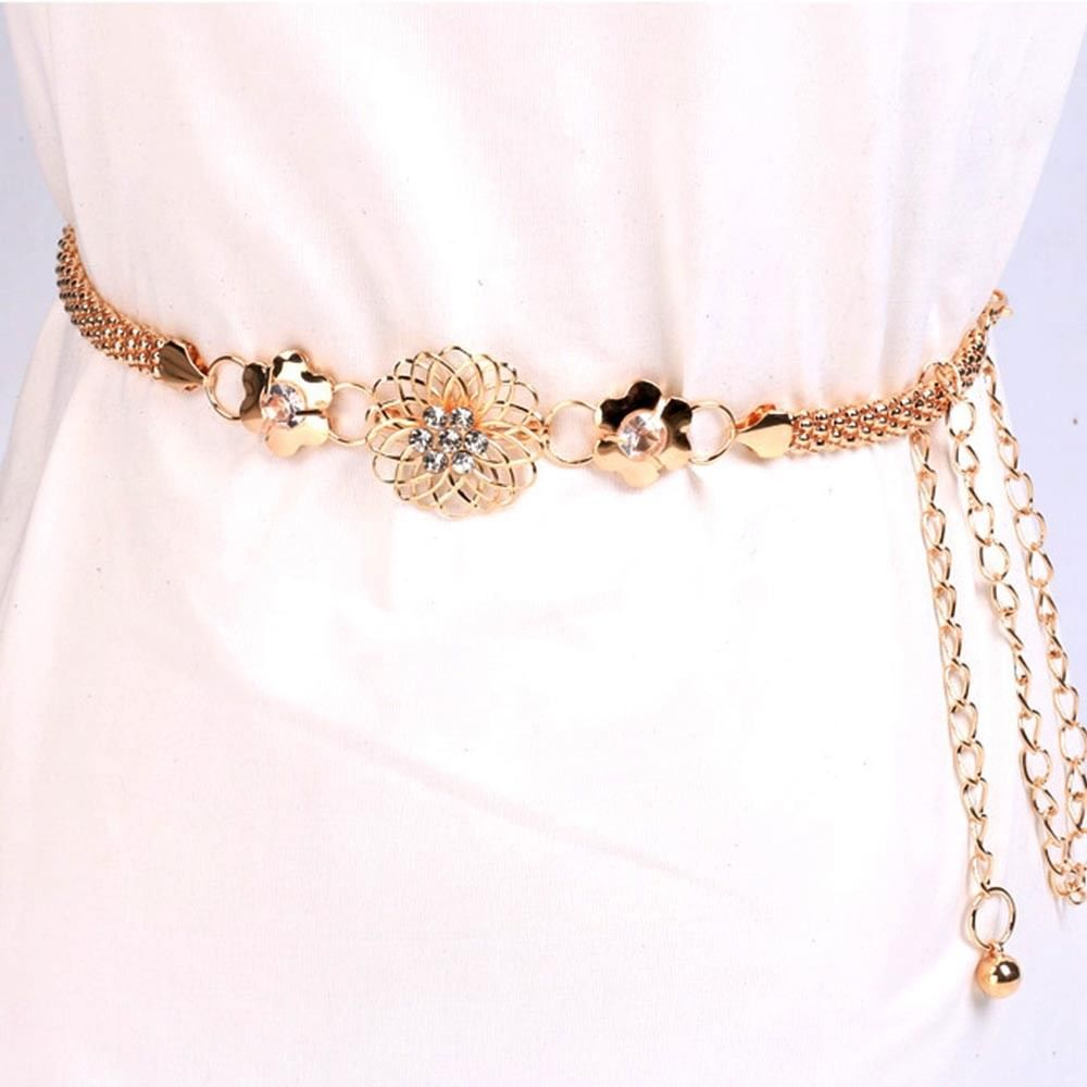 Gold Waist Chain Waistband Belt Body Chain Statement Fashion Jewelry Accessories For Women Lady