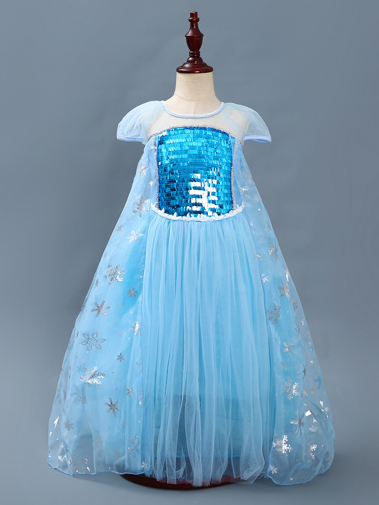 FANTASY SNOW QUEEN FROZEN ELSA ENCHANTED GIRLS COSTUME Halloween Cosplay G5