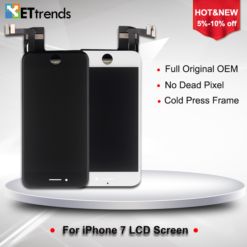 2PCS/LOT Original OEM LCD Display for iPhone 7 LCD Screen Digitizer Touch Glass Screen Panel with LCD Assembly DHL Free Shipping кухонная мойка blanco classic 45s 521308 антрацит