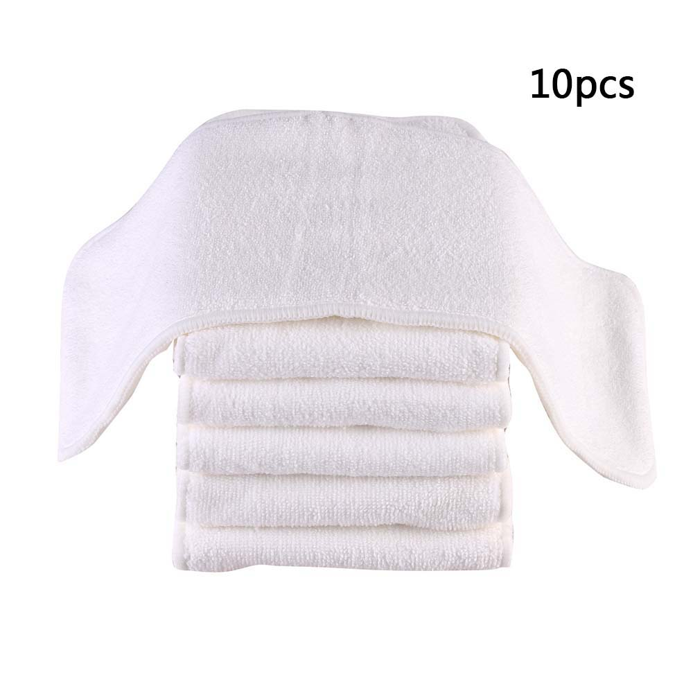 10pcs Washable Reusable Baby Cloth Diapers Nappy Inserts Microfiber 3 Layers 13*33cm