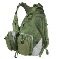 SF Fly Fishing Mesh Vest With Back Pack Adjustable Size