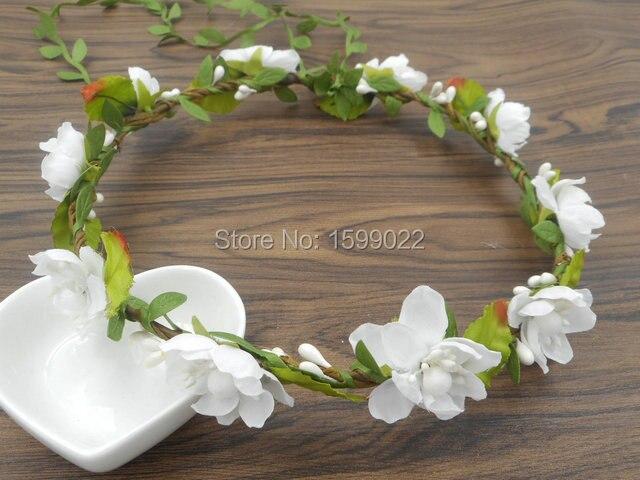 Blumen Crown Weiße Blume Stirnband Hochzeit Brautjungfer Kopf Kranz ...