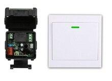 Interruptor de Control remoto digital, receptor AC220V, transmisor de pared, interruptor de encendido inalámbrico, relé de Interruptor controlado de Radio de 315MHZ