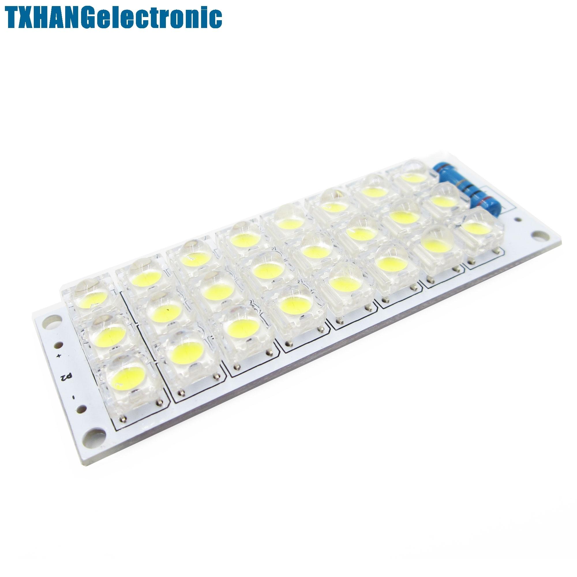 10PCS DC 5V 24-LED Super Bright White Piranha LED board Night LED Lights Lamp
