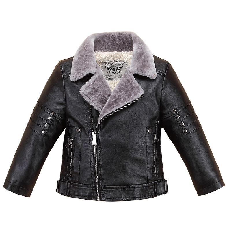 NEW 2018 Children's PU Leather Jackets Boys Autumn Leather Coat Girls Winter Jacket Clothes Kids Motorcycle Jacket Outwear 3-14y girl kids fashion pu leather jacket coat 2018 new winter autumn thick rabbit s hair hooded big baby boy girl motorcycle outwear