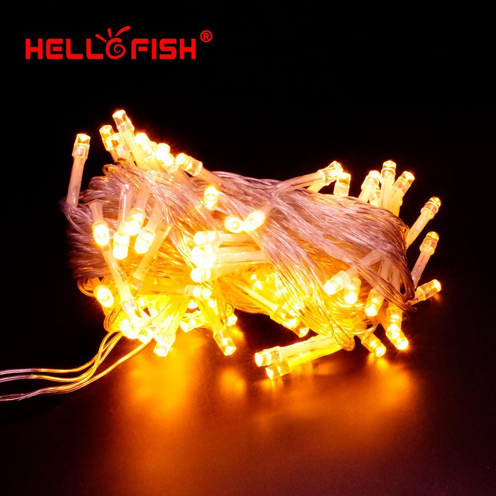 Hello Fish 2015 New Christmas Light AC110V-220V 10M 100 LED Multi Color String Light for Holiday Party Home Outdoor Decoration