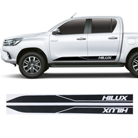 hilux racing side stripe graphic Vinyl sticker for TOYOTA HILUX