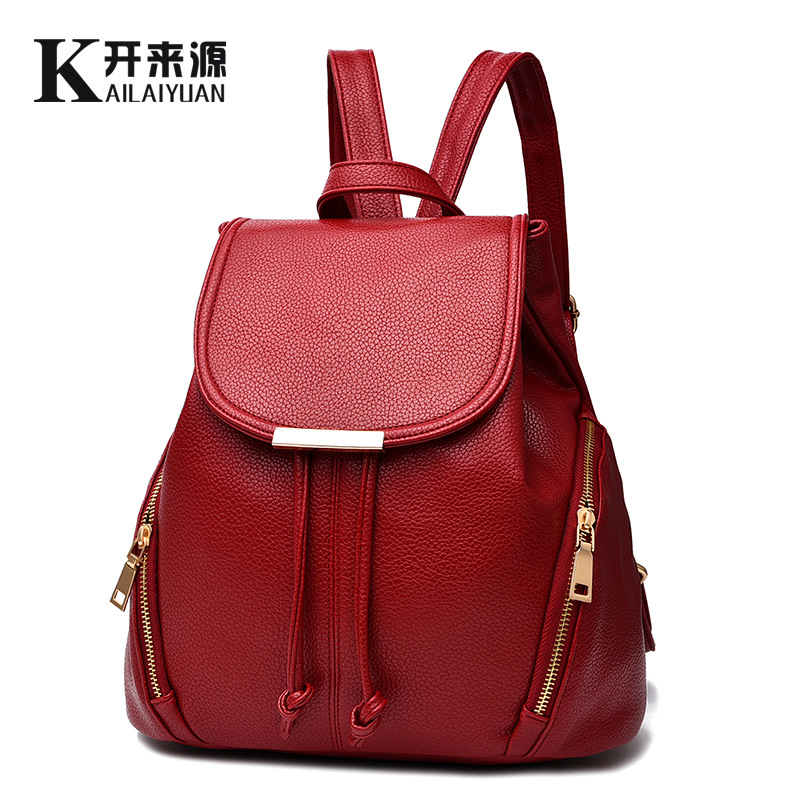 Backpack bag new spring and summer 2019 new tide female backpack student han edition female fashion leisure bag