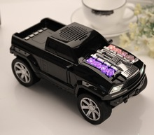 Mini Altavoces Hifi Estéreo Pickup Coche Subwoofers Altavoces Inalámbricos Bluetooth con LED Portátil para iPhone HTC USB TF MP3 DS-396BT
