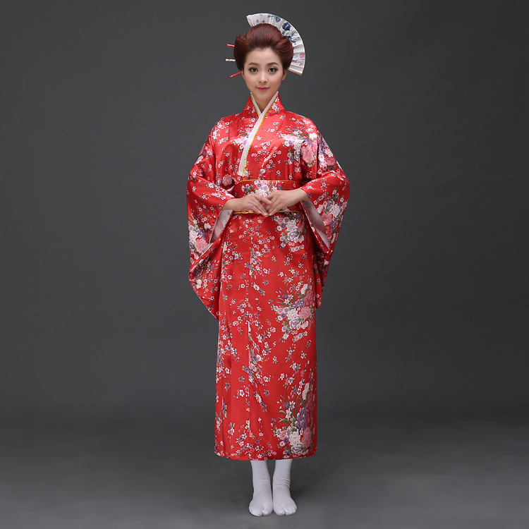New Arrive Women Anese Kimono Traditional Costume Female Yukata With Bowknot Lady Robe Ancient Clothes 12 In Asia Pacific Islands Clothing