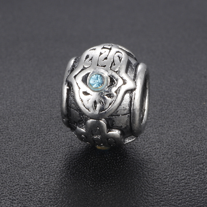 Beads & Jewelry Making Beads Amicable Spinner Evil Eye Charm Beads Fit Pandora Bracelet&bangle For Women Diy Jewelry Gift 100% High Quality Materials