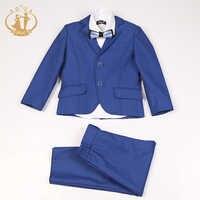 Nimble azul traje para niño trajes de niño de un solo pecho para Traje de Bodas Enfant Garcon Mariage Suits para niños Jogging Garcon