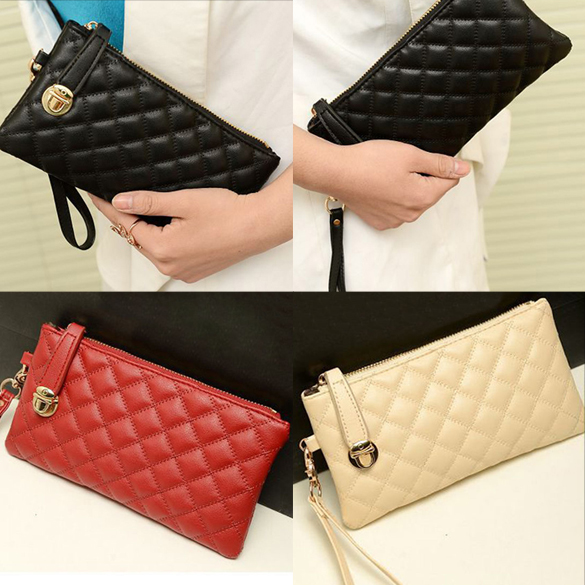 New Fashion High Capacity Fashion Women Wallets Long PU Leather Wallet Female Single Zipper Clutch Coin Purse Ladies Wristlet