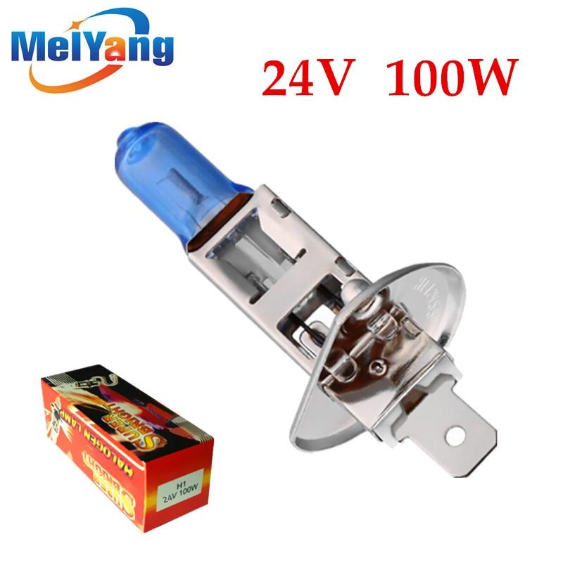 24V  H1 100W Super Bright White Fog Lights Halogen Bulb High Power Car Headlight Lamp Car Light Source Parking Auto