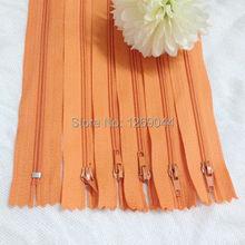 20 unids Nylon bobina cremalleras Tailor herramientas de costura Craft 9 pulgadas de color naranja