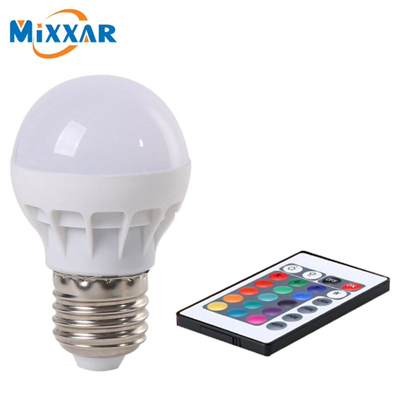 zk50 LED RGB Bulb Lamp AC85-265V E27 E26 LED Spot Blubs Stage Night Lights Holiday RGB lighting+IR Remote Control LED Bulb RGB agm rgb led bulb lamp night light 3w 10w e27 luminaria dimmer 16 colors changeable 24 keys remote for home holiday decoration