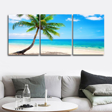 Laeacco Abstract Tropical Palm Tree Blue Sky Posters and Prints Nordic Home Decoration Art Canvas Paintings on the Wall modern seaside sunrise palm tree beach wall art posters and prints canvas paintings on the wall home decoration