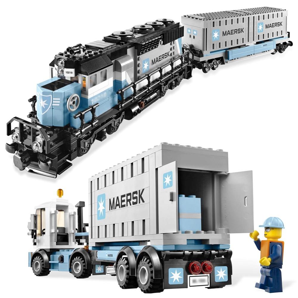 1234 pièces ensemble de Train Maersk ultime Fit Legoness Technic 10219 modèle blocs de construction briques Kit jouets enfants cadeaux d'anniversaire