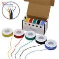 50 м 28AWG Гибкий Силиконовый Провод Кабель 5 цвет Смешивания коробка 1 коробка 2 пакет Электрический Провод Медный кабель
