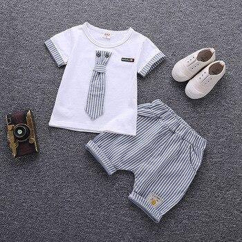 Summer Cartoon Clothing Set For Boys