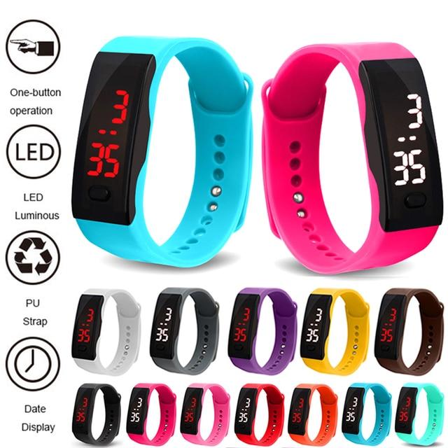 Reloj Nina New Watches Kids LED Digital Sport Watch Boys Girls Men Women Electro