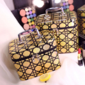 4 цветов 2 размер Корейский стиль моды Ствол косметичка большая емкость макияж мешок водонепроницаемый хранения Плед мешок