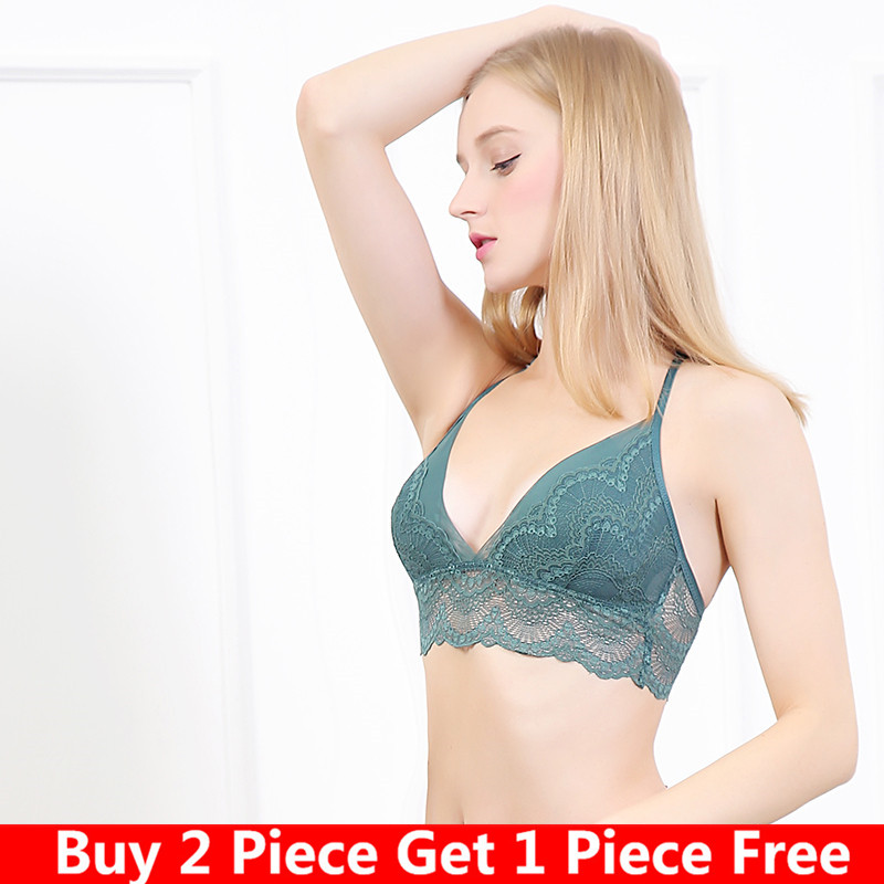 No steel ring ultra-thin bra Y-type female convex underwear without sexy vest-style thin pad