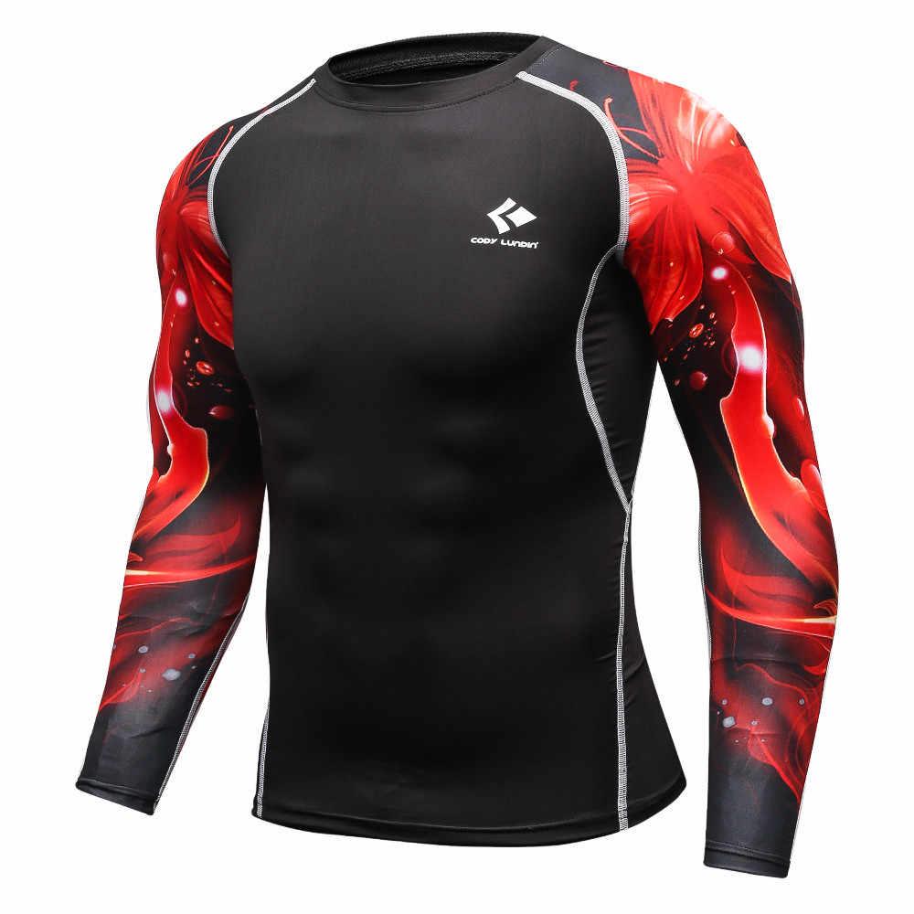 Мужские футболки для фитнеса MMA, модные 3D футболки с длинными рукавами для подростков, волка, дворца, компрессионная футболка для мужчин, бодибилдинг, одежда для фитнеса