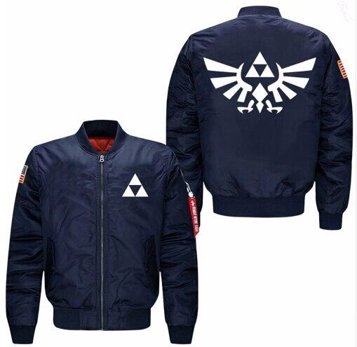 2018 Legend of Zelda весна-осень мужская куртка воротник код летчиков ВВС jactet мужская бейсбольная форма размер США