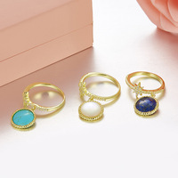 Tyme New Female Blue White Green Stone Wedding Ring Silver Color Vintage Engagement Rings For Women
