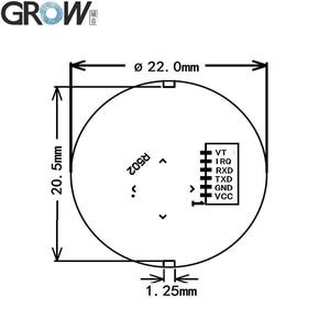 Image 5 - GROW R502 DC3.3V mała okrągła niebieska czerwona dioda LED MX1.0 6pin pojemnościowa kontrola dostępu za pomocą odcisków palców czujnik modułu skanera