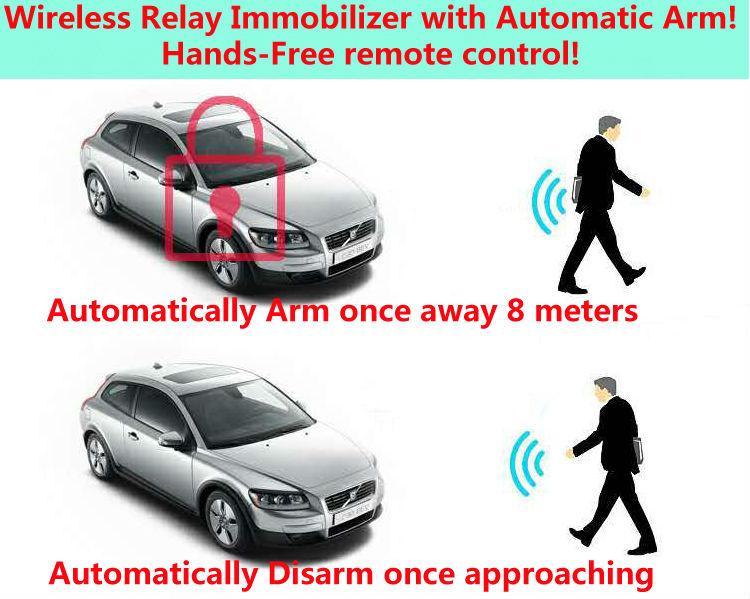 US $54 59 10% OFF|upgarde12V anti theft car fuel pump cut off RFID  immobiliser Wireless Relay car alarm hands free remote control-in Burglar  Alarm