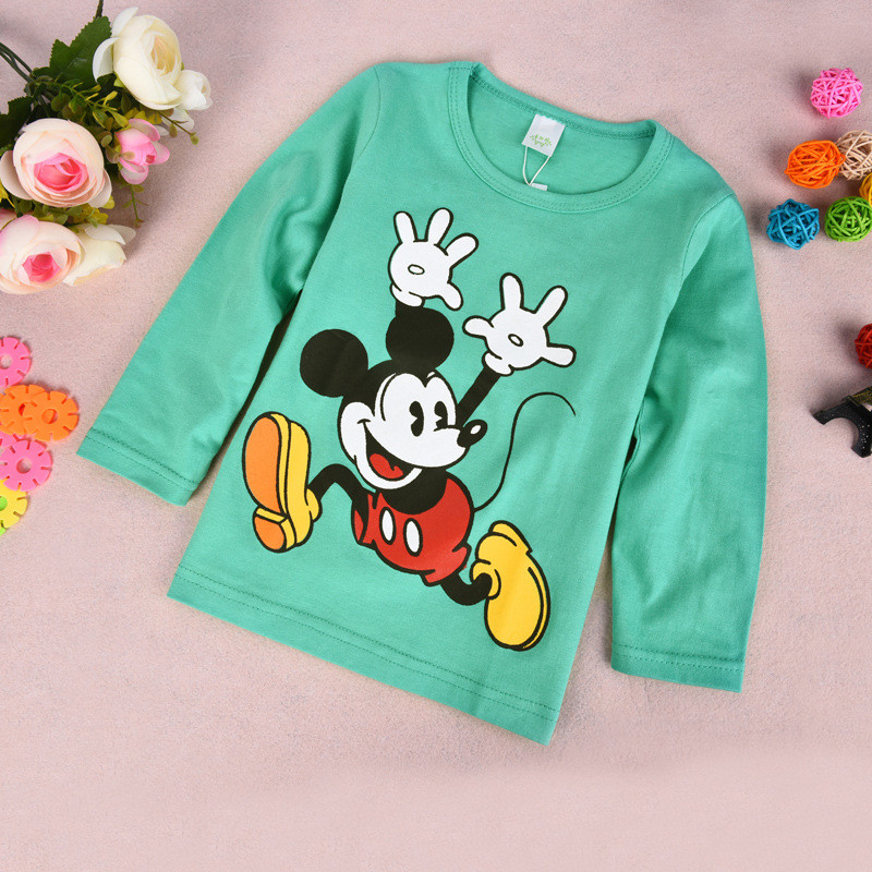 Spring Autumn Baby Toddler Kids Girl&Boy Sweatshirts Cotton Long Sleeves Winter Low Baby Clothing T-shirt Jerseys Kids Clothes