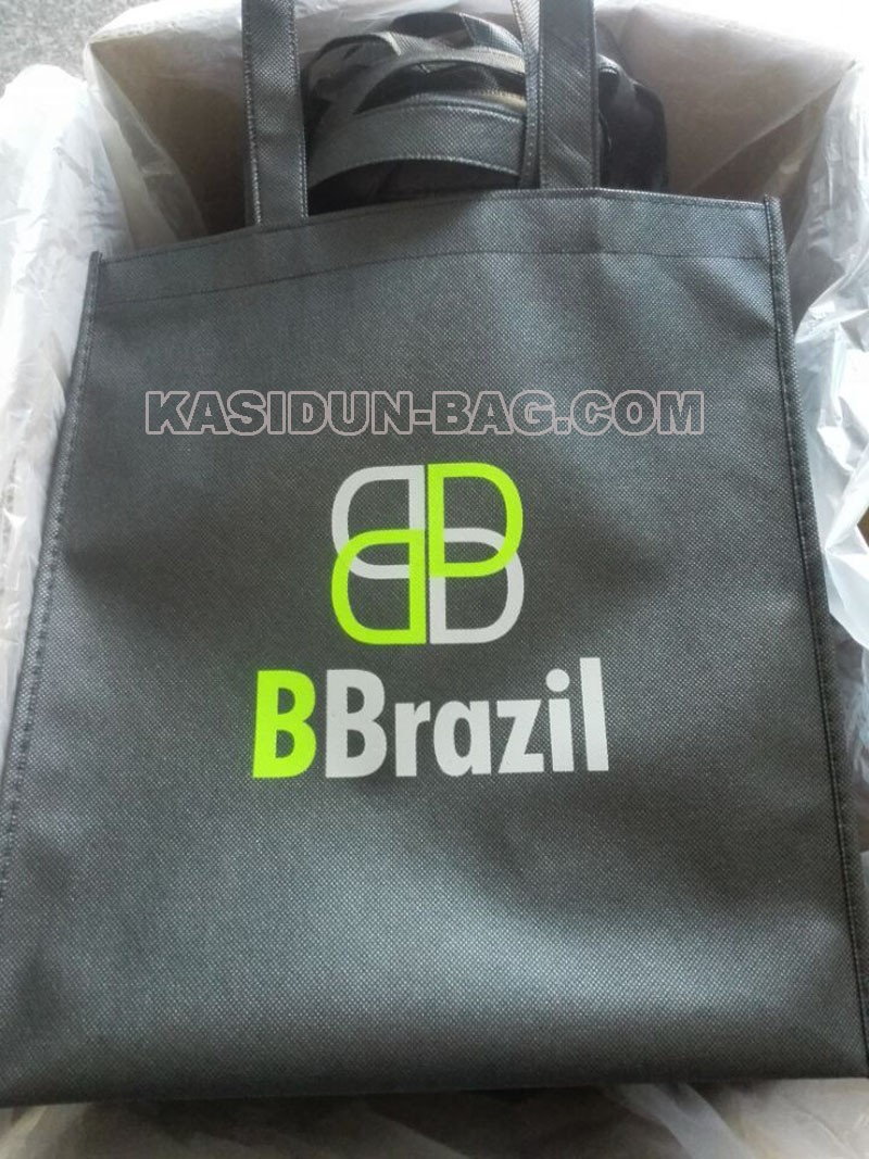 black bag with two colors logo
