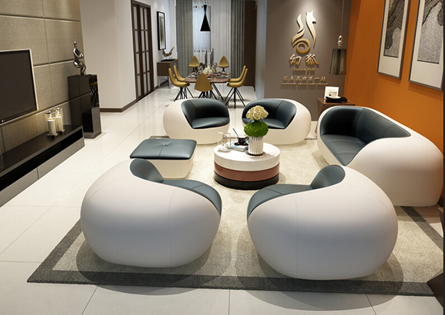 Unique canapé en cuir salon canapé moderne en cuir canapé Foshan ...