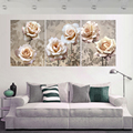 3 Panel Cuadros Decoracion Canvas Oil Painting Wall Modular Pictures For Living Room HD Print   Flowers Pictures Mural K309X