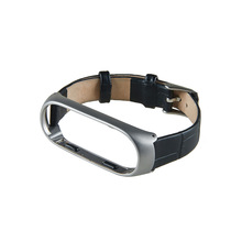 For Mi Band 3 Strap bracelet Leather metal Wristband and Xiaomi Mi Band3 xiomi band Smart miband3 Band Accessories wrist Strap цена